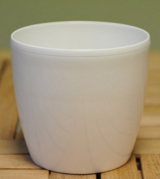 White round pot cover