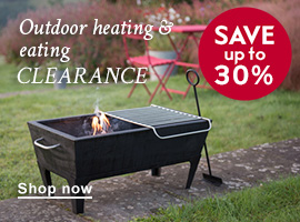 Outdoor heating & eating clearance