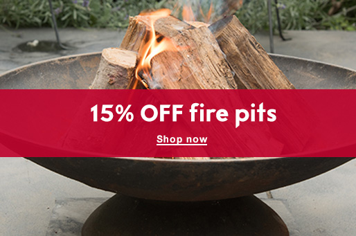 15% OFF fire pits
