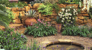 Gardening features timely gardening advice from - Using stone in rustic gardens elegance and drama ...