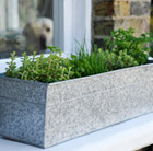 Window trough herb pot combination