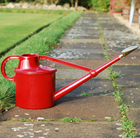 Haws red deluxe plastic watering can