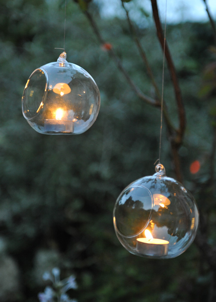 Buy large bauble tea light holder for Outdoor christmas baubles