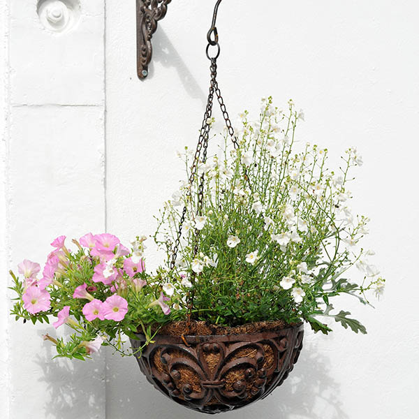 Cast-iron hanging basket