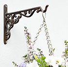 Cast-iron hanging basket bracket
