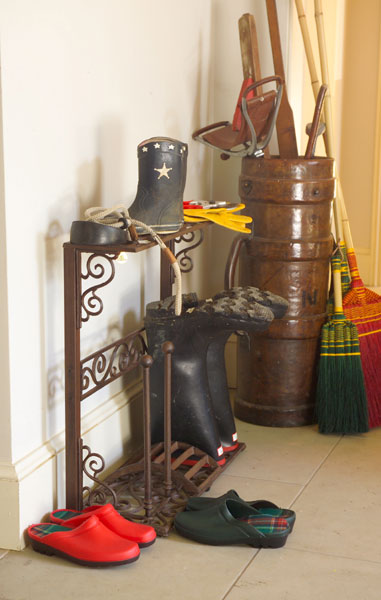 Cast-iron boot airer 4-pair rack