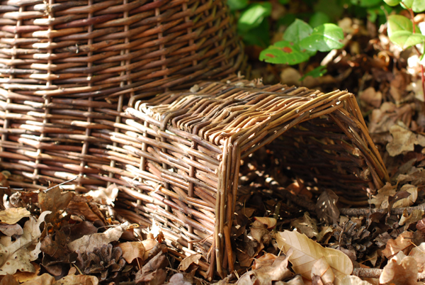 Wicker hedgehog house