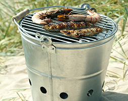 Portable barbecue bucket