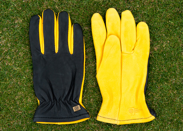 RHS gold leaf dry touch gloves