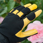 RHS gold leaf soft touch gloves