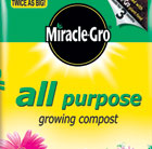 8 bags of all purpose compost - miracle gro - 50 litre bags