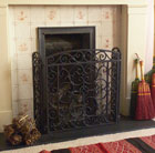 Cast-iron fire screen