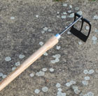 De Wit small hoe rake with drop grip handle