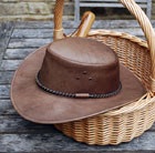 Leather gardening hat
