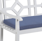 Navy cushion for woburn bench
