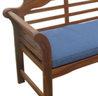 Navy bench cushion