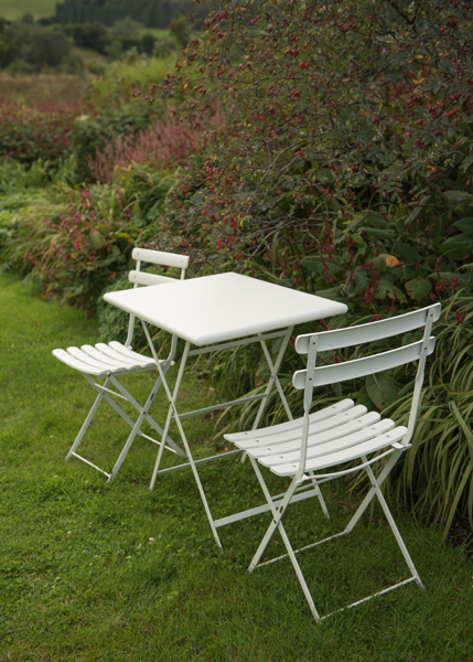 Buy Rome Folding Bistro Set White