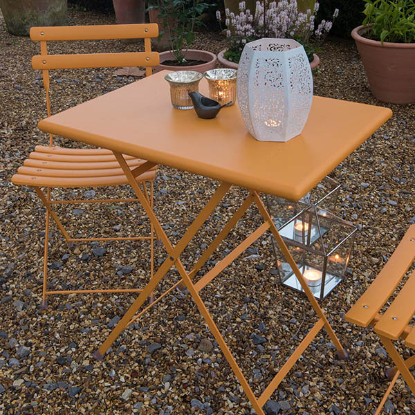 Buy Rome Folding Bistro Set Orange