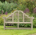Grande weathered lutyens bench