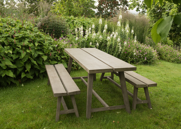 Cromer dining table and two benches