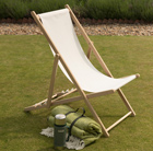 Garden deck chair - ecru