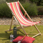 Garden deck chair - bright stripe