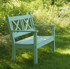 Hampton bench green