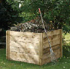 Slot down compost box