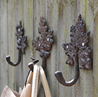 Set of 3 leaf hooks
