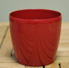 Red round pot cover, 16cm