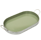 Galvanised oval tray