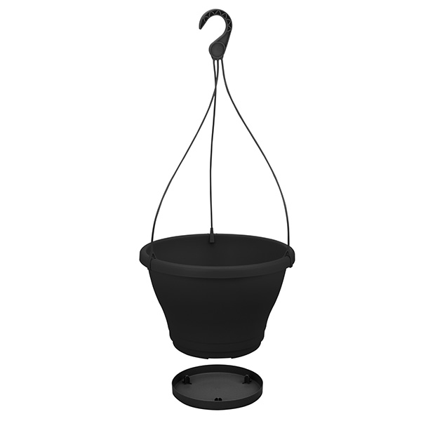 Self-watering hanging pot
