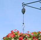 Hi-Lo hanging basket raising / lowering pulley