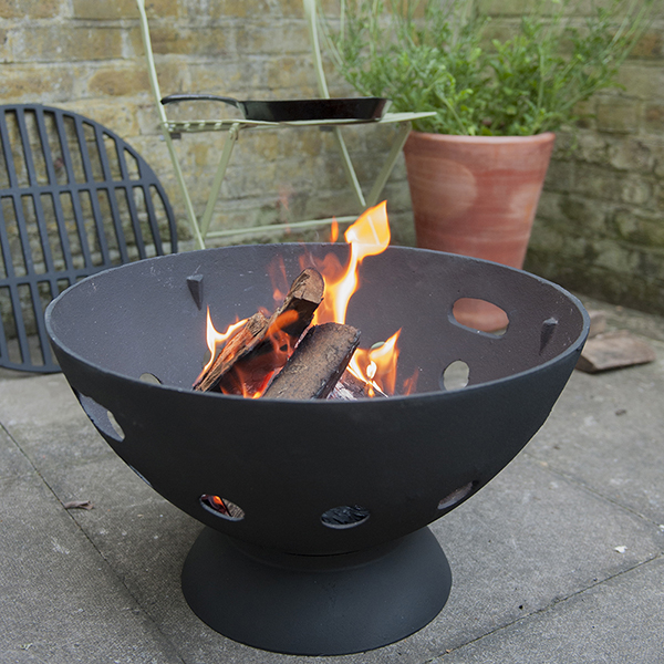 castiron fire pit with grill