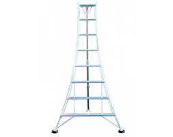 Tripod ladder for orchards and hedges