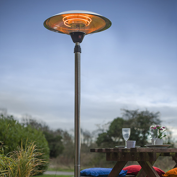 Standing patio heater - adjustable