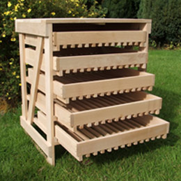 5 drawer traditional apple rack - FSC Beech
