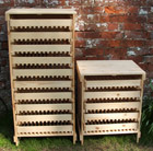 Traditional apple rack 10 drawer - pine
