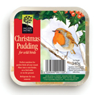 Christmas pudding bird food cake