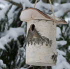 Woodland nest box for smaller birds