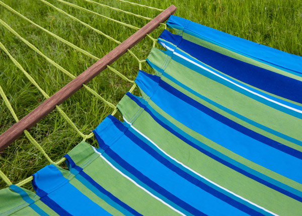 Swing hammock with bars - blue