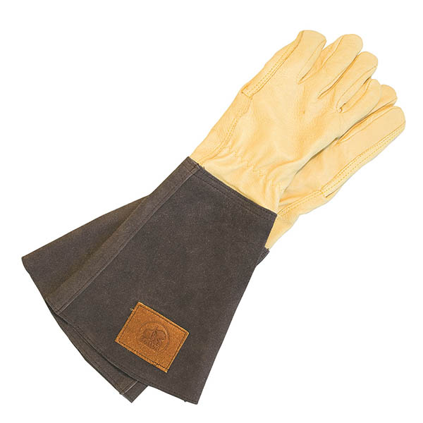 Haws leather gauntlet gloves - brown