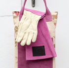 Haws leather gauntlet gloves - pink