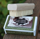Dirty hands soap and brush set