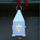 Set of three Christmas lanterns