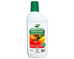 Organic soil extract fertiliser for tomatoes and peppers