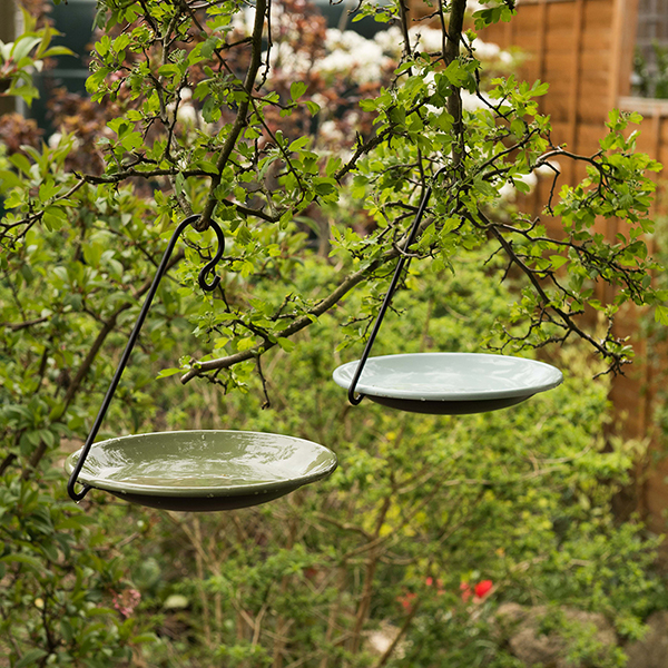 Hanging bird bowl