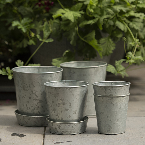 Single galvanised pot