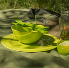 barbecue dining set green
