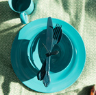 barbecue dining set teal